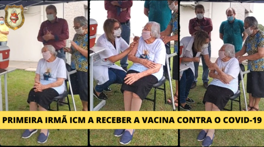 Irmã Teresita Carlotti é uma das primeiras pessoas a receber a vacina contra o Covid-19 em Salvador do Sul