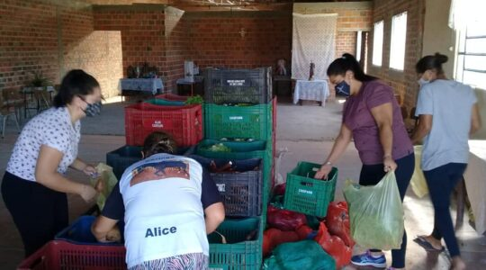 Pelotas: ação das Irmãs ICM e entidades leva alimentos para 150 famílias vulneráveis