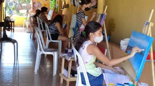 Curso de pintura em tela e formação humana em Babaçulândia (TO)